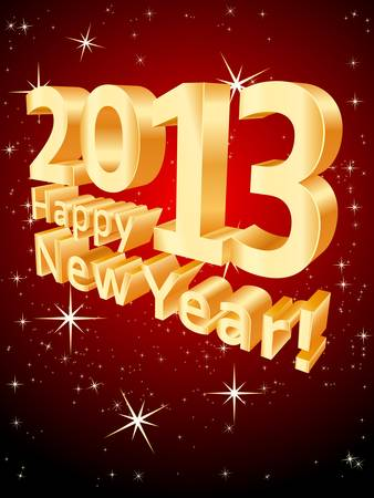 Happy New Year 2013 Stock Vector - 15572291