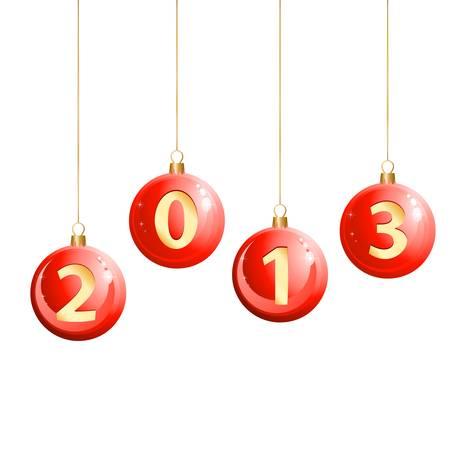 2013 christmas balls Vector