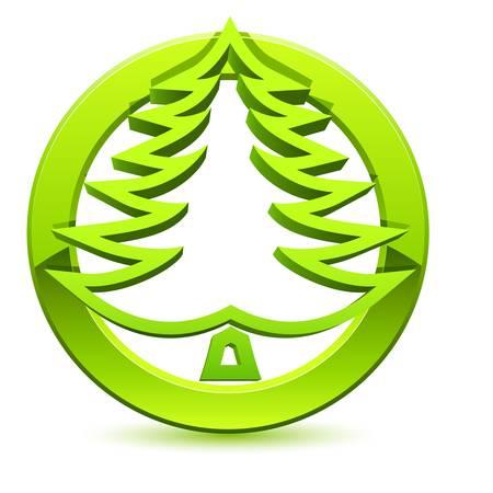 green environment: christmas tree button