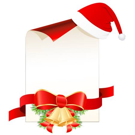 christmas wish list with Santa hat Vector