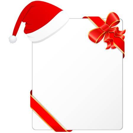 christmas wish list with Santa s hat Illustration