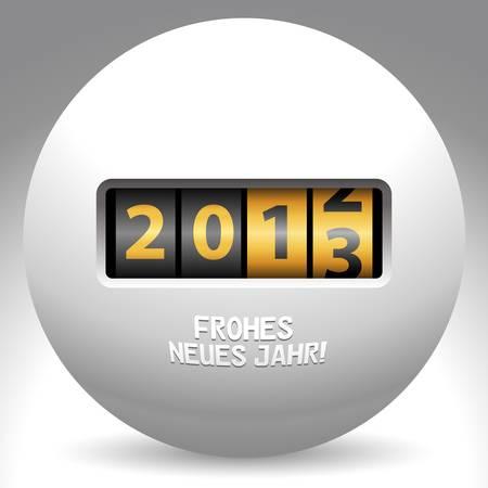 Gelukkig Nieuwjaar 2013 Duitse taal Stock Illustratie