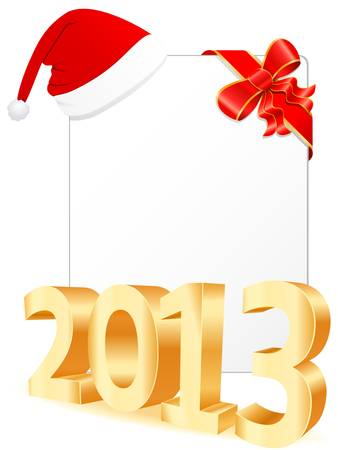 Merry Christmas and happy new year 2013 Vector