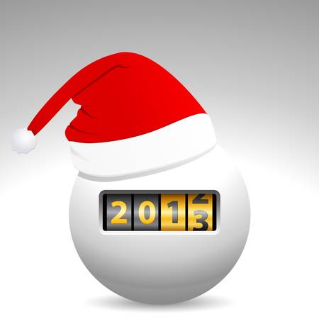 counter 2013 and Santa s hat Stock Vector - 15721605