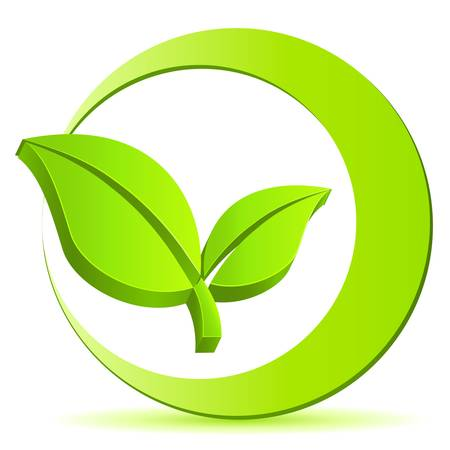 environmentally friendly: green eco sign Illustration