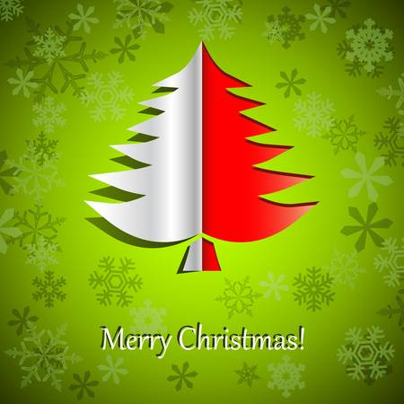 Christmas card with pinetree Vector