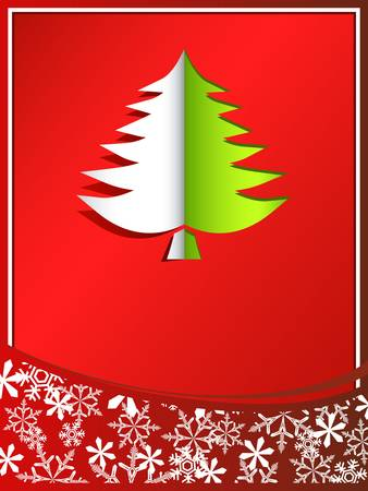 pinetree: Christmas card with pinetree Illustration