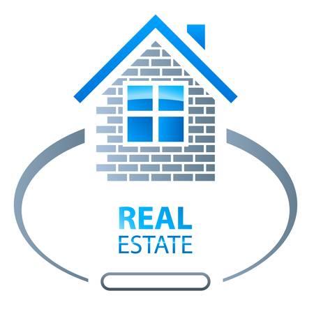 building a website: house, real estate sign Illustration
