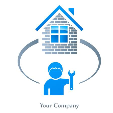housetop: facility management  real estate sign Illustration