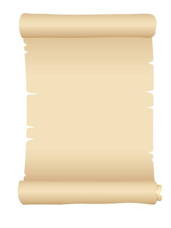 ancient scroll: old blank scroll paper Illustration