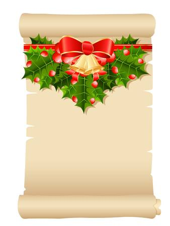 christmas paper scroll Vector