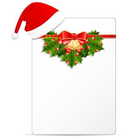 christmas card and Santa s hat Stock Vector - 16311643