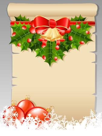 Christmas wish list with Christmas decoration Vector