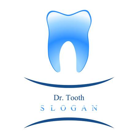 oral surgery: dentist  tooth sign Illustration