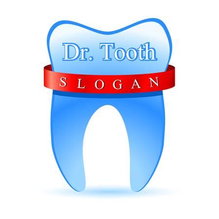 dentist  tooth sign Illustration