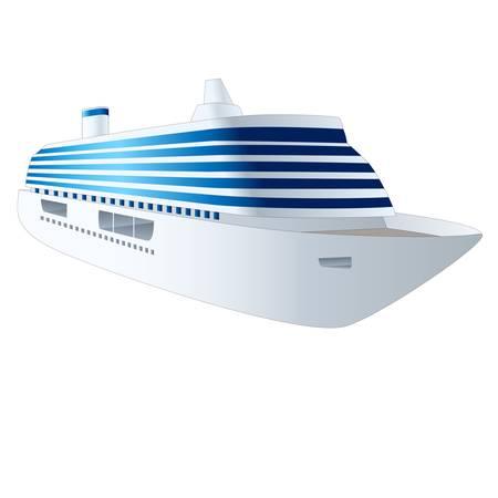 navire: bateau de croisi�re isol� sur fond blanc