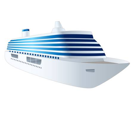 caribbean cruise: cruise ship isolated on white background