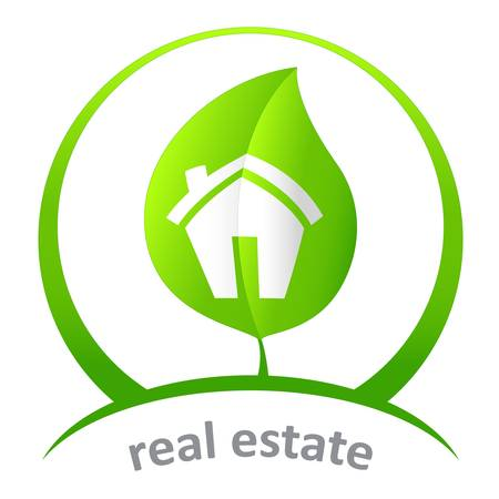 housetop: green real estate Illustration