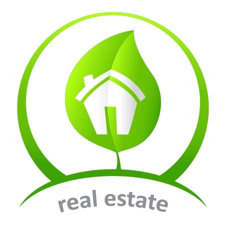 green real estate Illusztráció
