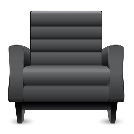leather armchair: black leather armchair