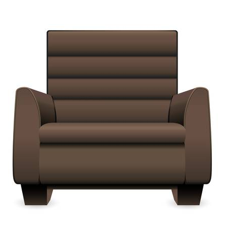 brown leather armchair Stock Vector - 16752605