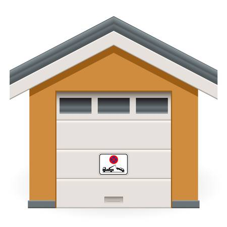 car garage with tow away sign Vector