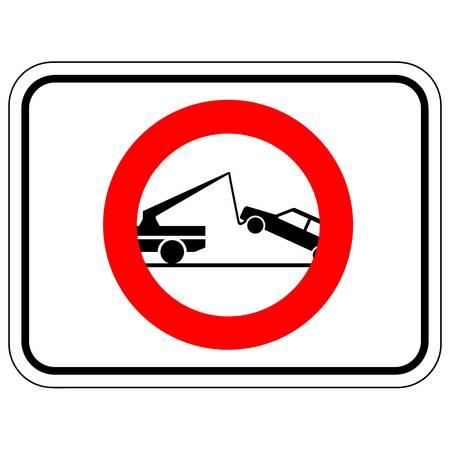 waarschuwing wegslepen ondertekenen Stock Illustratie