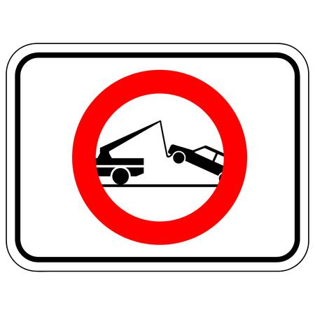 instruct: warning tow away sign Illustration