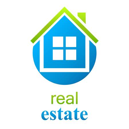 blue roof: house  real estate sign Illustration