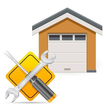 repair shop: Estaci�n de servicio