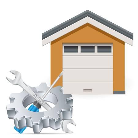 residential garage: Service station