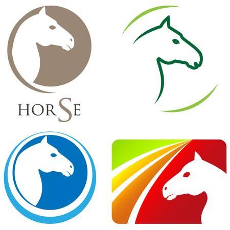 macellaio: Testa di cavallo - segno set