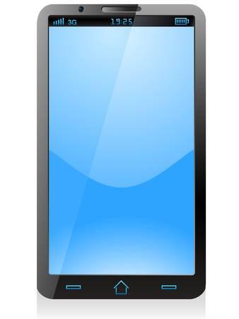black smartphone, mobile phone Stock Vector - 17447014