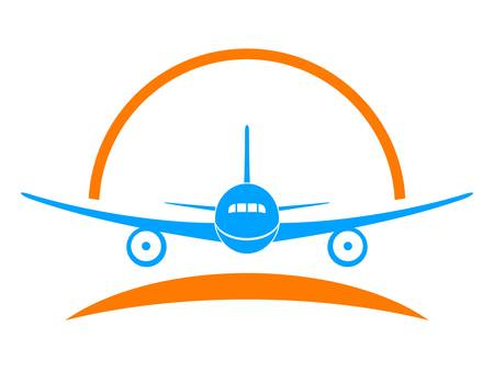 aereo icona: aeroplano, aereo - segno, simbolo