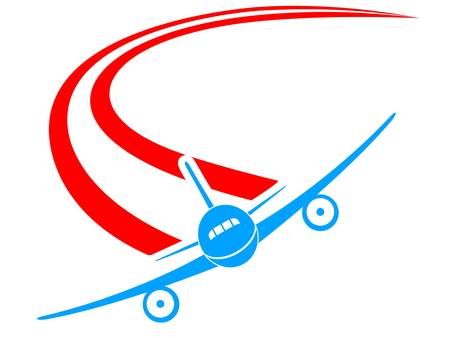 airplane landing: airplane sign Illustration