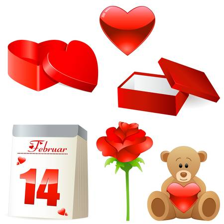 Valentine s day decoration Vector