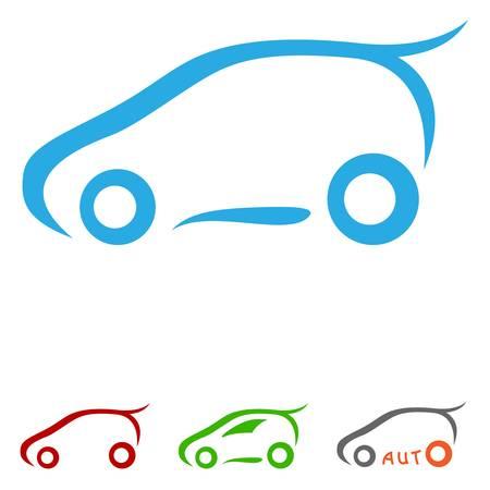 driving a car: s�mbolo del coche - ilustraci�n vectorial