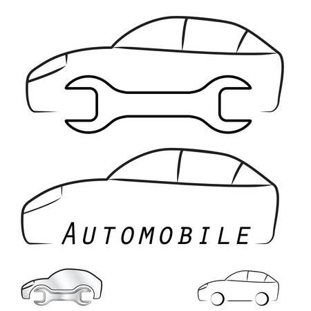 rent a car: car service station Illustration