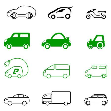 motorized sport: vehicle signs Illustration