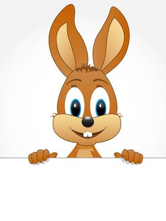 cartoon hare: easter bunny with teeth