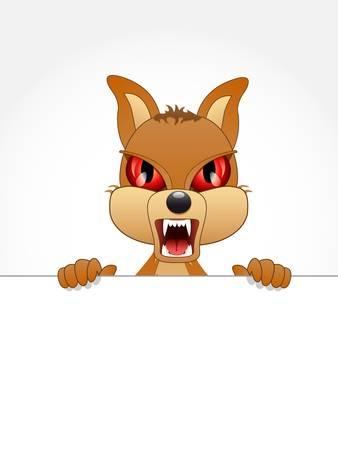 bared teeth: little bad dog Illustration
