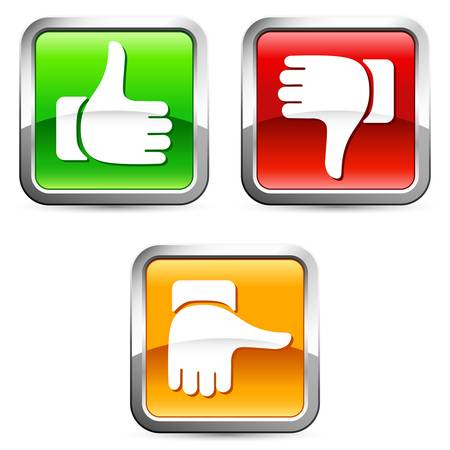 negativity: Thumb up and down buttons