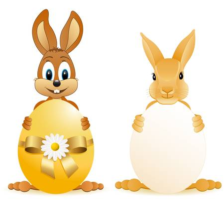 easter bunny: easter bunny with easter egg Illustration