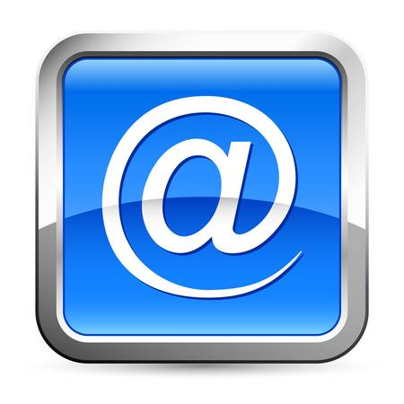 web address: at sign, e-mail button Illustration