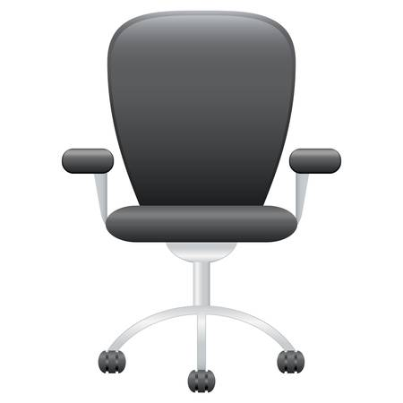 cuero silla de oficina Ilustración de vector