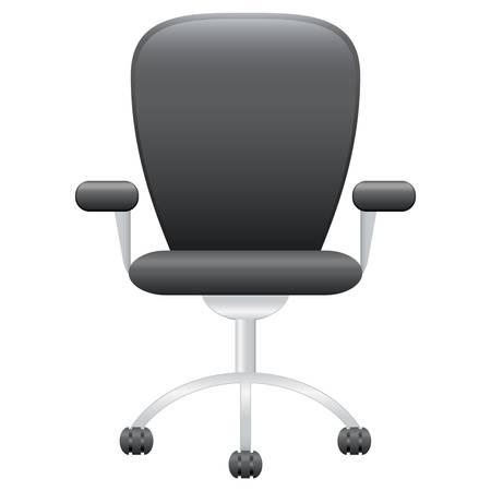 sedia ufficio: sedia da ufficio in pelle Vettoriali