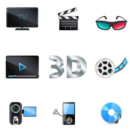 movie  cinema and music icons Vector