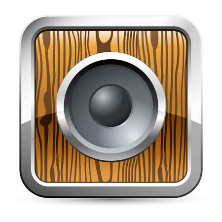 speaker box: loudspeaker button Illustration