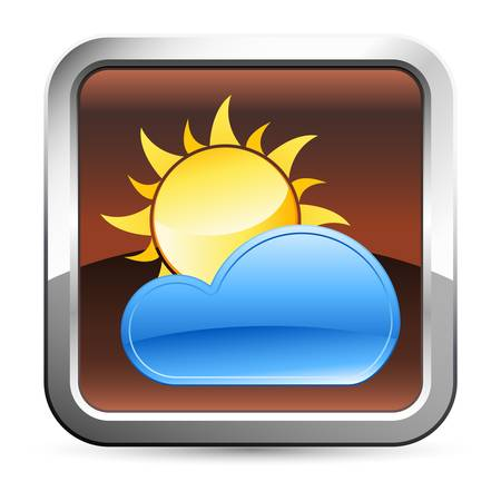 warm weather: weather button Illustration