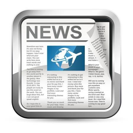 icone news: bouton journal Illustration
